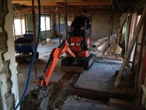 Fundamenten uitgraven