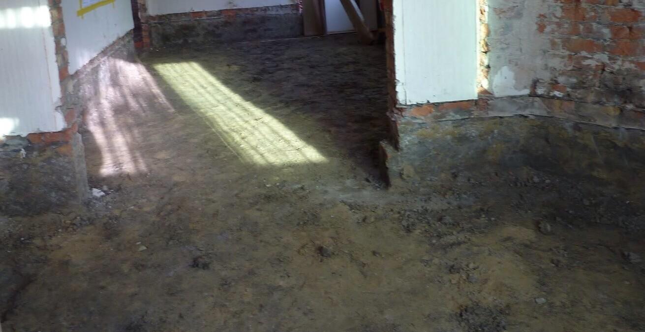 Verwijderen vloerplaat