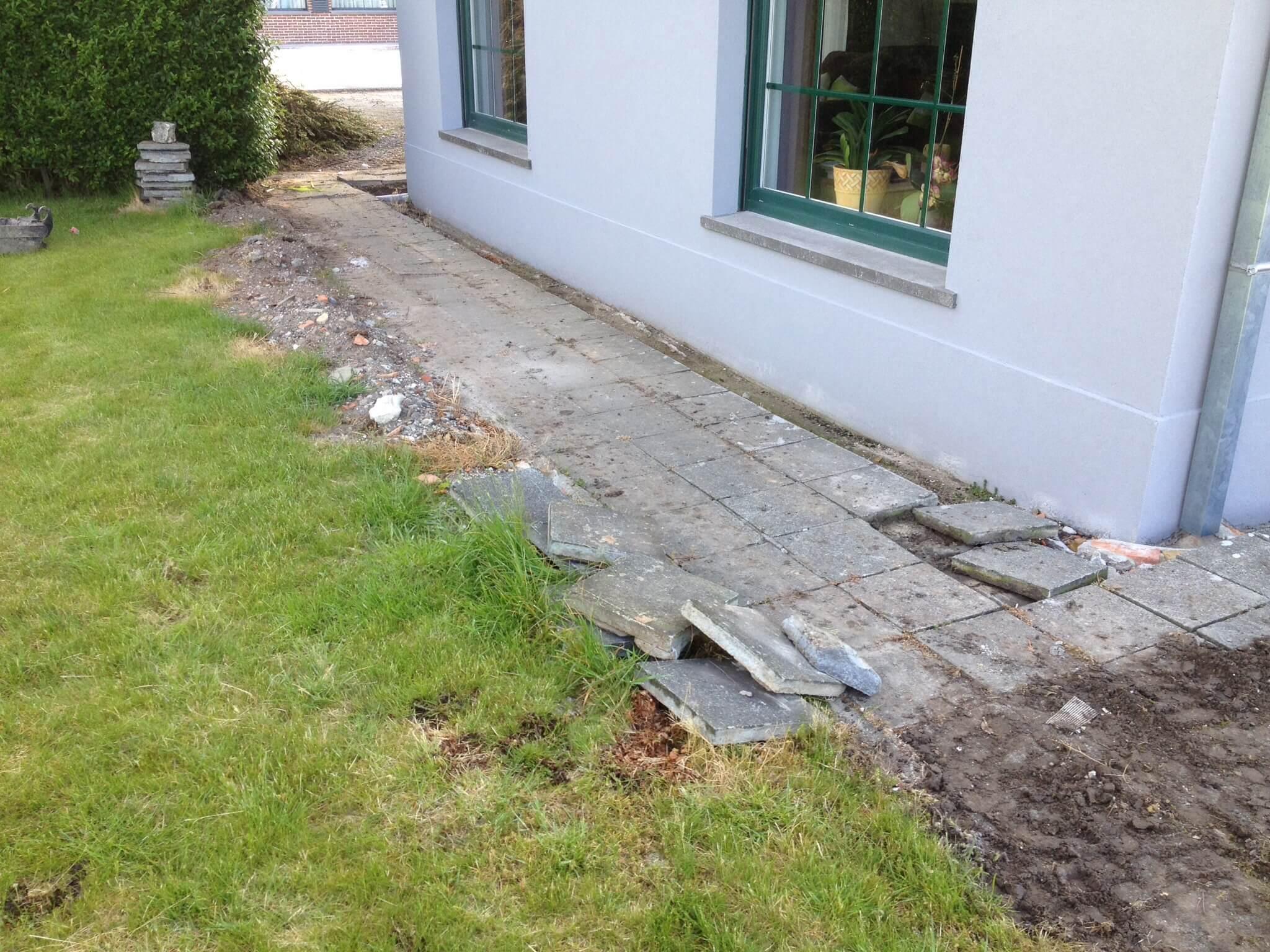 Verwijderen terras