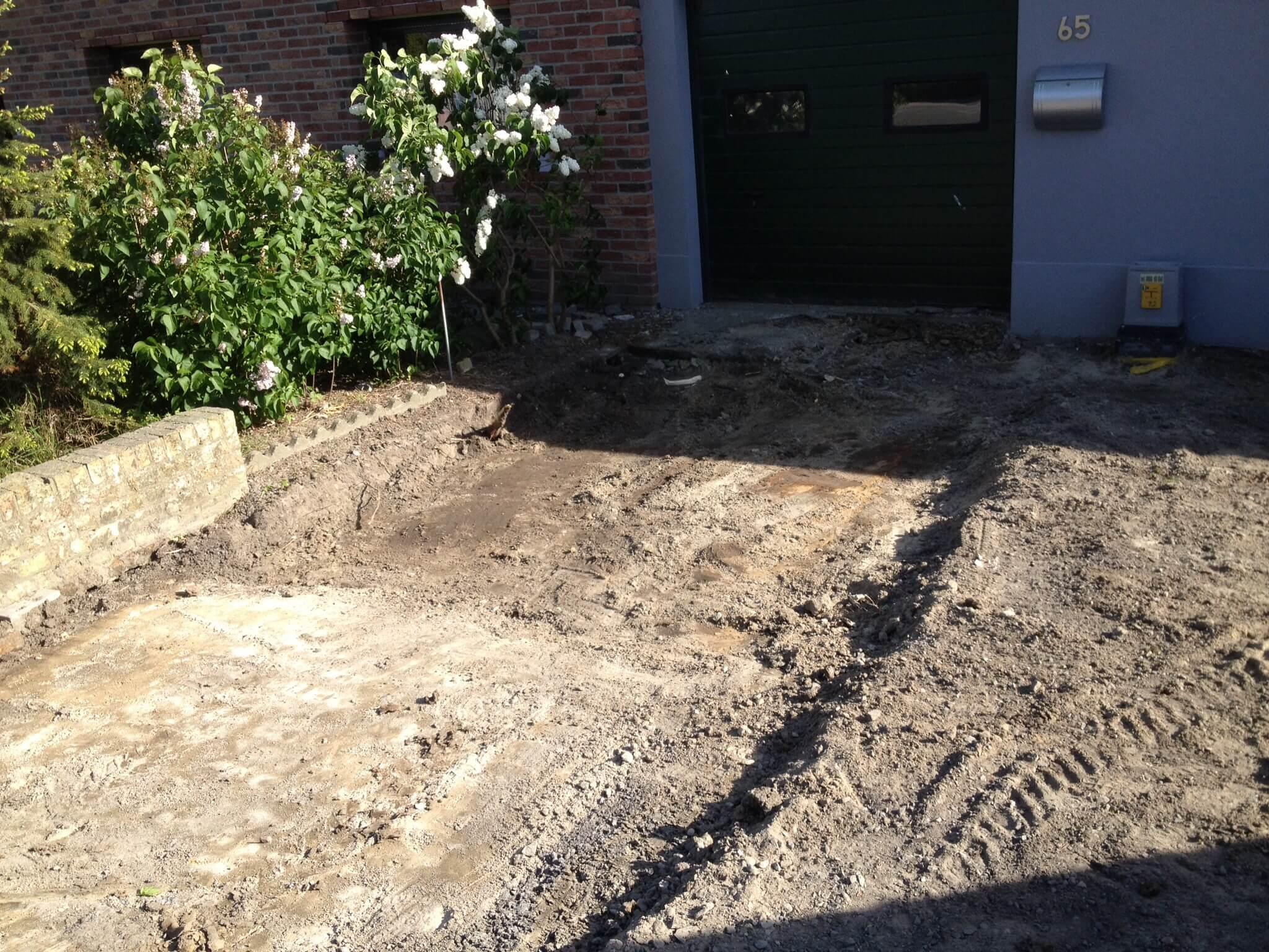 Uitgraven oprit