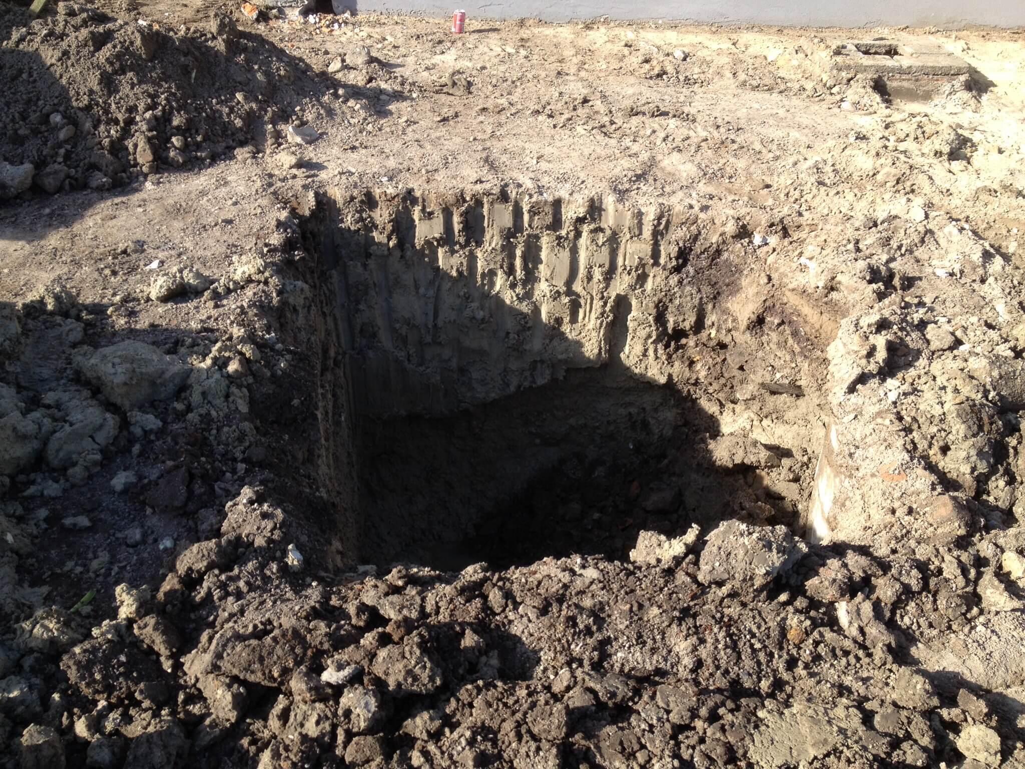 Uitgraven put