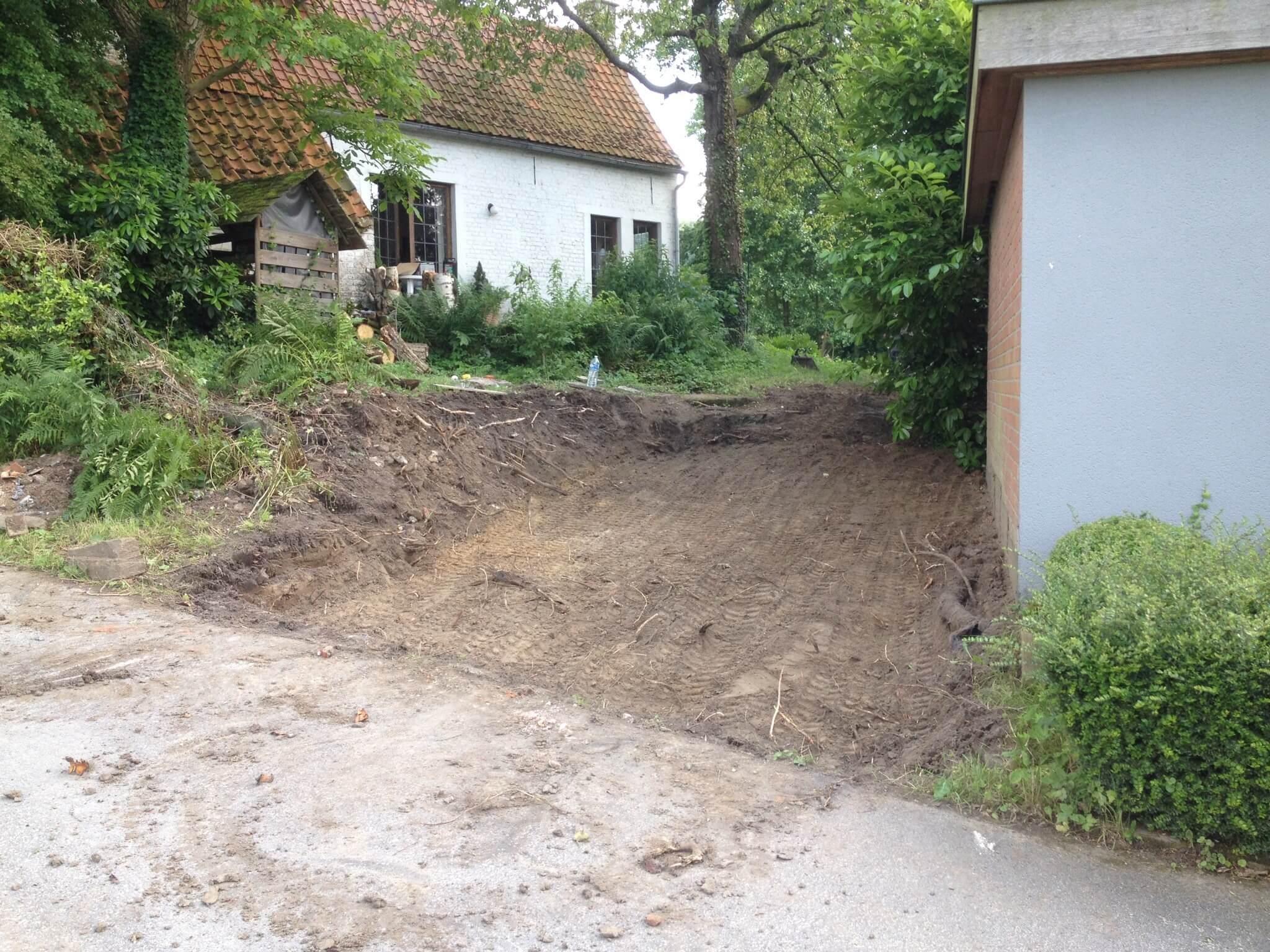Oprit uitgraven