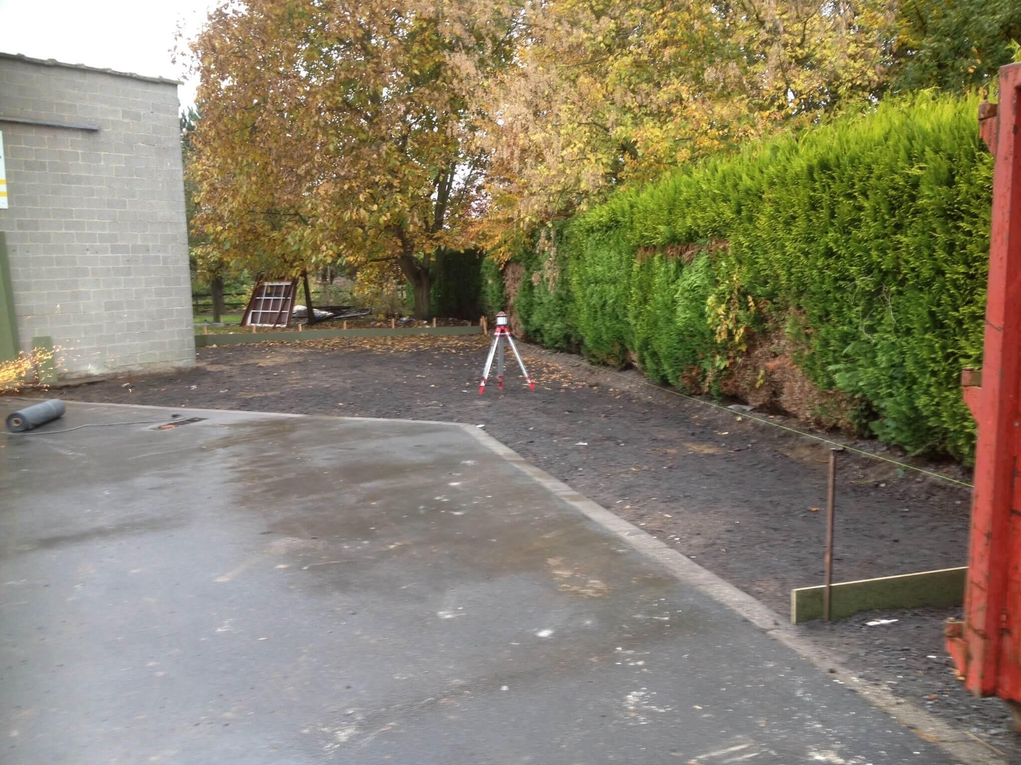 aanleg betonstrook